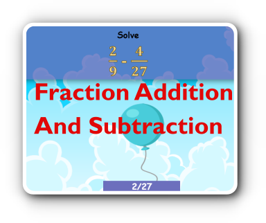 add and subtract fractions game thumbnail