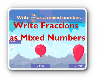 fractions to mixed numbers game thumbnail