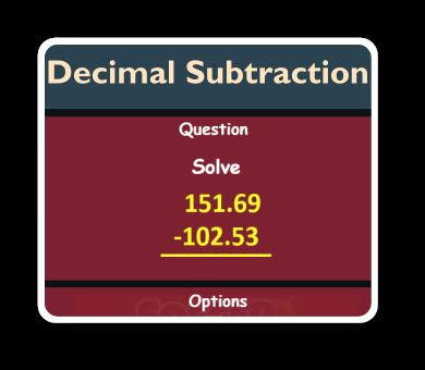 decimal subtraction game thumbnails
